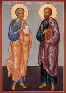 12 июля  — день памяти славных и всехвальных первоверховных апостолов Петра и Павла